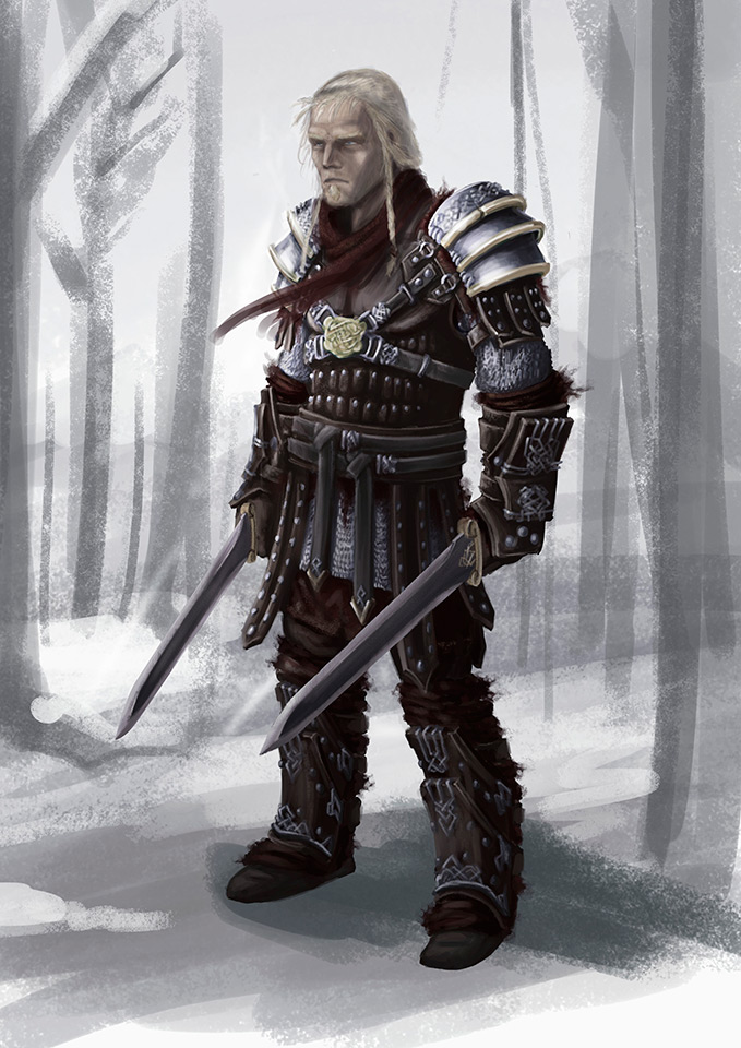 Old Warrior Concept Art